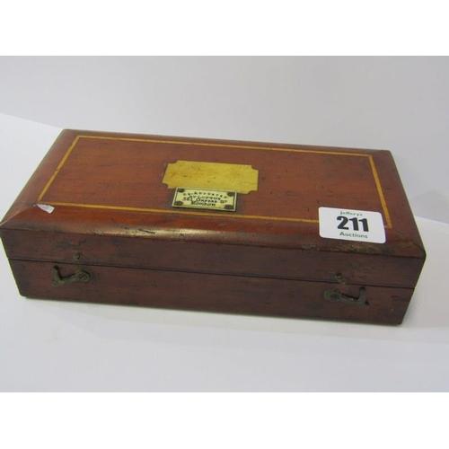 211 - HYDROMETER, Loftus original wooden cased hydrometer set, 8