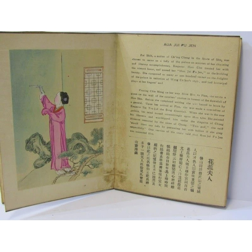 218 - JAPANESE BOOK, hand painted