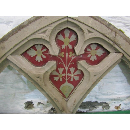 258 - ARCHITECTURE, stained glass arch fragment, 19