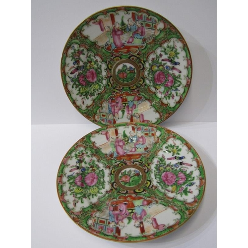 31 - ORIENTAL CERAMICS, PAIR OF 19th CENTURY CANTON 7.5