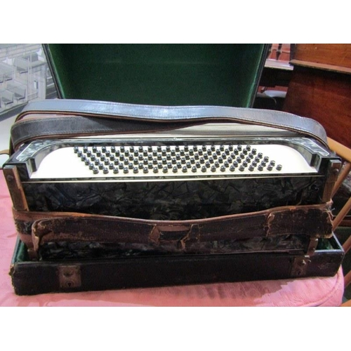348 - PIANO ACCORDIAN, Scandalli Vibrante Four Accordian in carrying case...