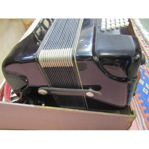349 - PIANO ACCORDIAN, Royal Standard accordian in travelling case...