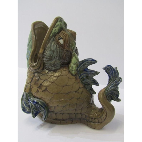 36 - ANDREW HULL, Burslem Pottery, comical fish jug, 6