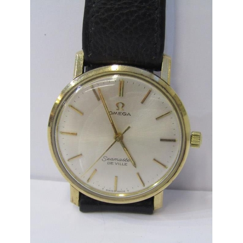 402 - 9ct YELLOW GOLD OMEGA SEAMASTER DE VILLE WRIST WATCH, circa 1960s, lovely working condition Omega wi...