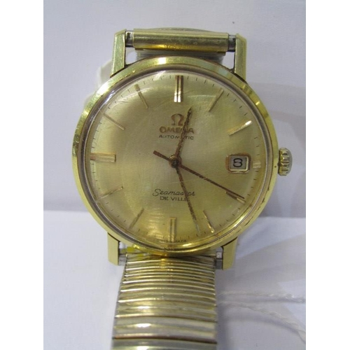 415 - OMEGA SEAMASTER DE VILLE WRIST WATCH, automatic movement with date aperture, case tests as gold, mov...