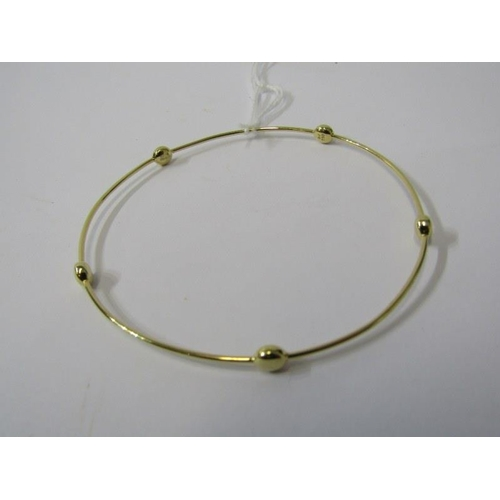 418 - 18ct YELLOW GOLD GEORG JENSON DESIGN BANGLE, approx 5.5 grams in weight...
