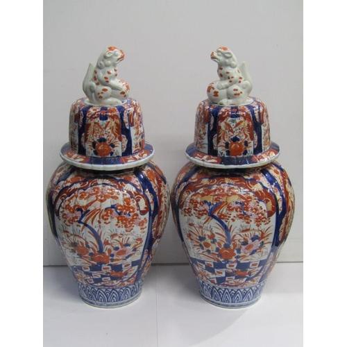 44 - ORIENTAL CERAMICS, pair of impressive Imari 24