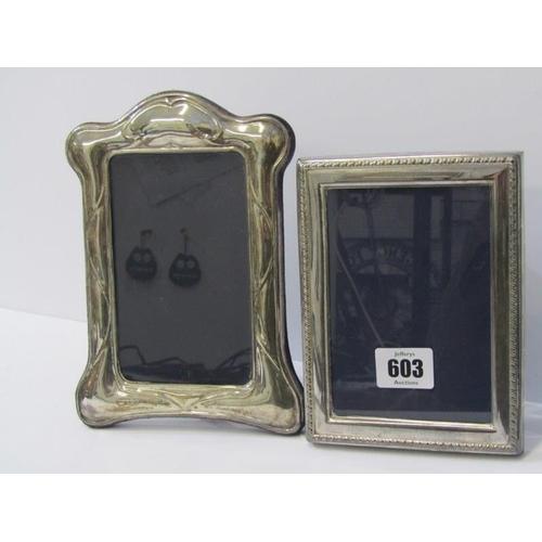 603 - SILVER EASEL PHOTO FRAMES, 1 Birmingham HM in the Art Nouveau style, 7.5