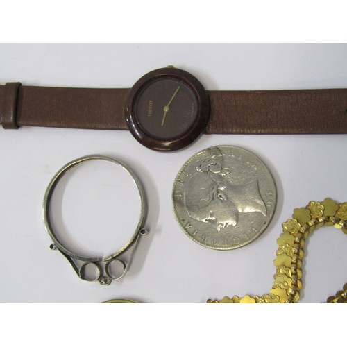 396 - WATCHES & COSTUME JEWELLERY, selection of ladies watches yellow metal costume jewellery & silver Vic...