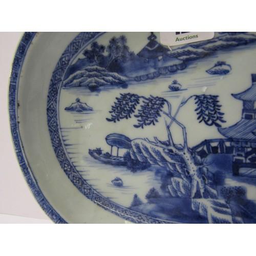 127 - ORIENTAL CERAMICS, 18th Century Nankin oval 10