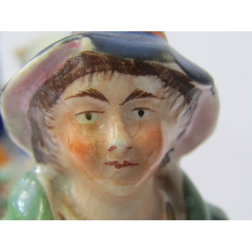 7 - STAFFORDSHIRE POTTERY, 19th Century Staffordshire group of Highland Girl with large Sheep, 8