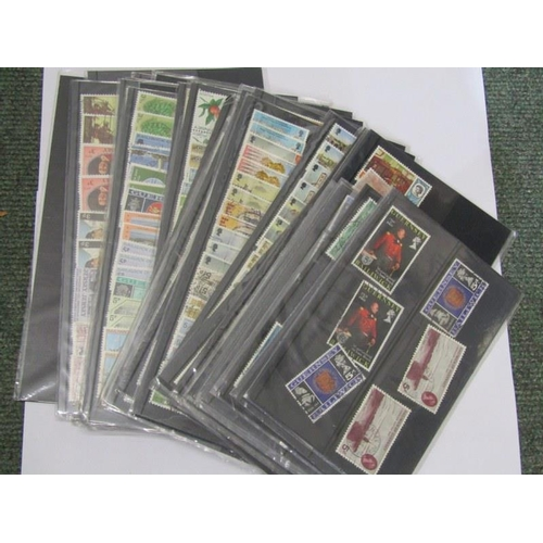 105 - STAMPS, collection of 37 sheets of stamps relating to Isle of Man and The Channel Islands