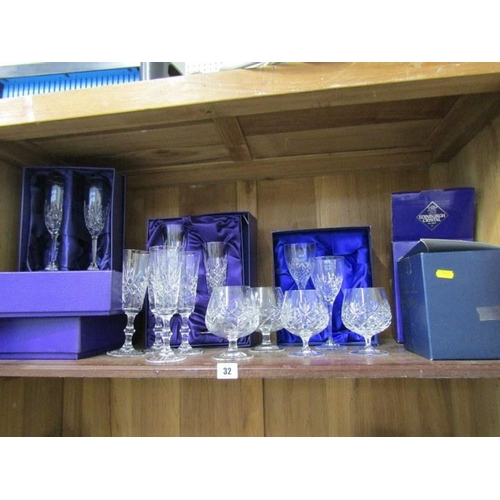 32 - CUT GLASS, collection of Edinburgh Crystal tableware and similar...