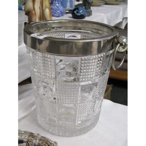 41 - SILVERPLATE, glass ice bucket, bamboo design vase, place mats, etc...