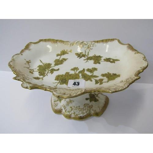 43 - VICTORIAN COMPORT, gilded floral design pedestal comport, 11