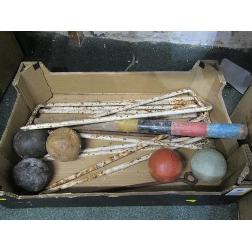 52 - CROQUET, vintage collection of croquet accessories...