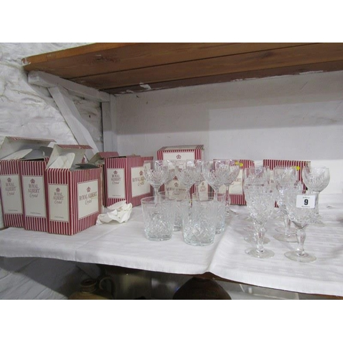 9 - CUT GLASS, collection of Royal Albert crystal tableware...