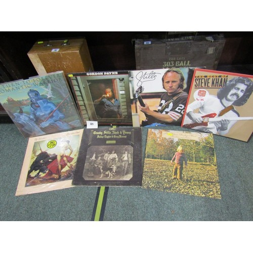 321 - VINYL ALBUMS, collection of rock albums including Ry Cooder and Santana