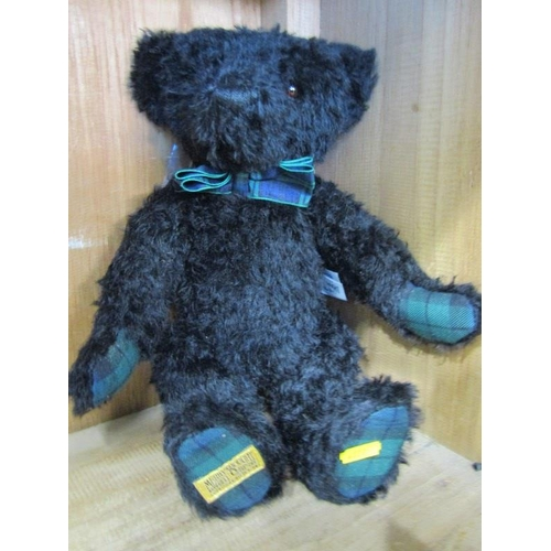 38 - TEDDY BEARS, Merrythought black plush limited edition