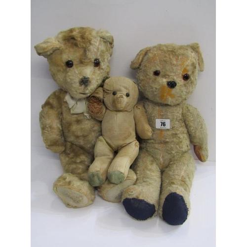 76 - VINTAGE TEDDY BEARS, 2 Goldplush 18