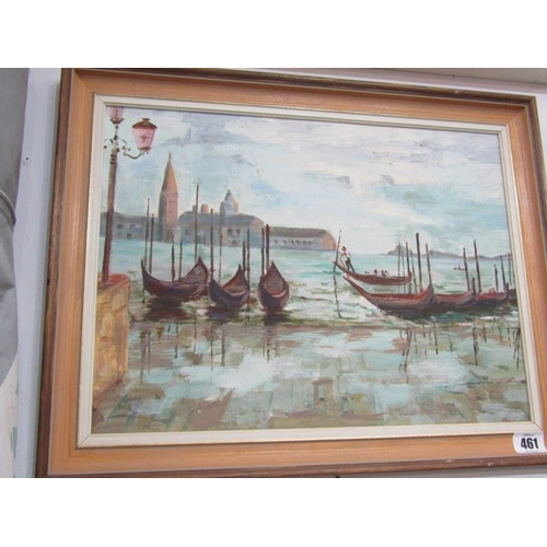 461 - VENICE, Unsigned oil on board 'View of Venice'  11