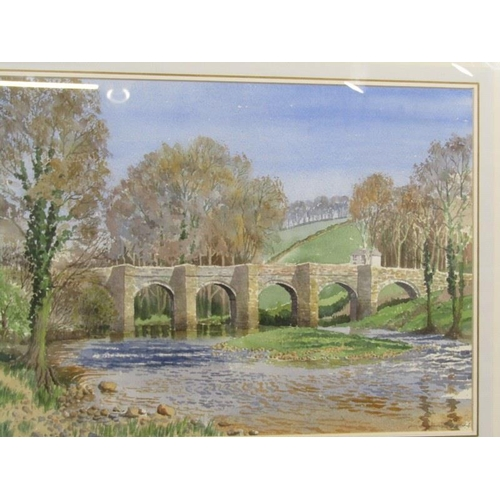 464 - NORMAN PRESTON, A pair of signed water colours 'Tamar Valley' 14
