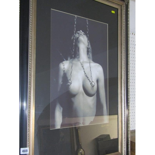 469 - NUDE, A signed photographic print 'Nude of Young Lady' 19.5
