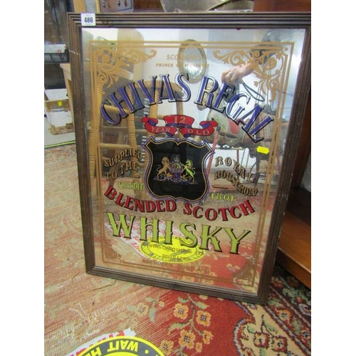 480 - ADVERTISING, Framed mirror 'Chivas Regal Whisky' 24