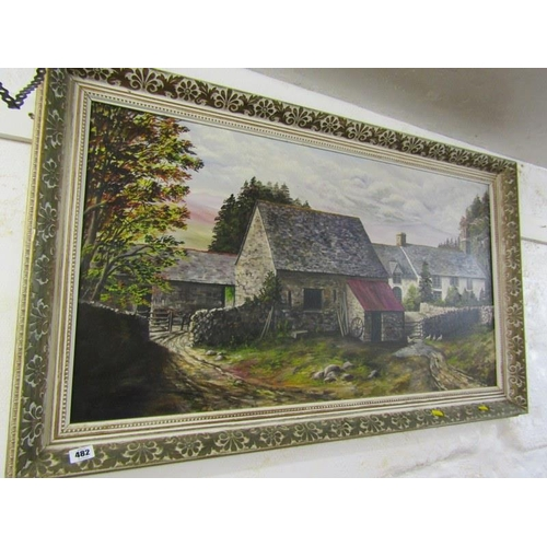 482 - KERRIS, Signed painting on canvas 'The Farmhouse' 19