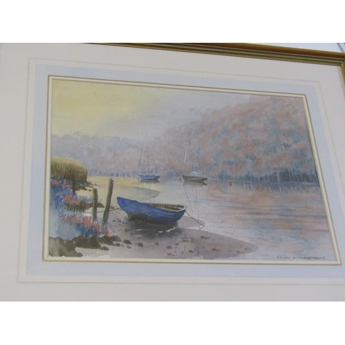 493 - NORMAN PRESTON, A pair of signed water colours 'Grey Stone Bridge' 10