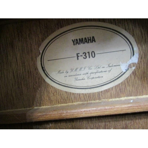 629 - MUSIC INSTRUMENT, Yamaha F/310 acoustic guitar with carrying case (no strings)...