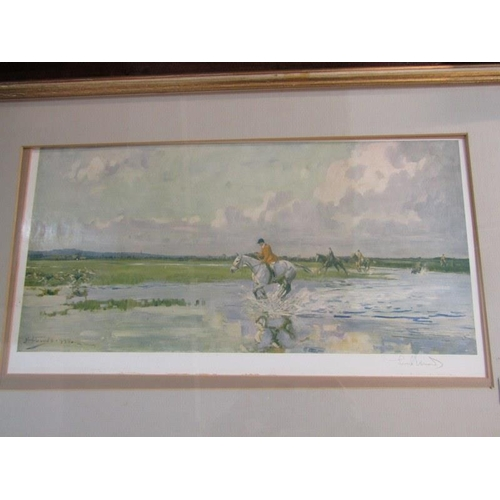 630 - HUNTING, Lionel Edwards signed colour hunting print, 8