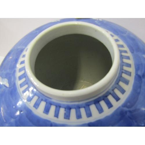 1 - ORIENTAL CERAMICS, Large Chinese underglaze blue ginger jar, Hawthorn Blossom design with 4 characte...