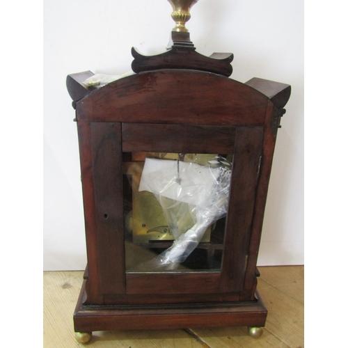 128 - 19TH CENTURY BRACKET CLOCK, signed