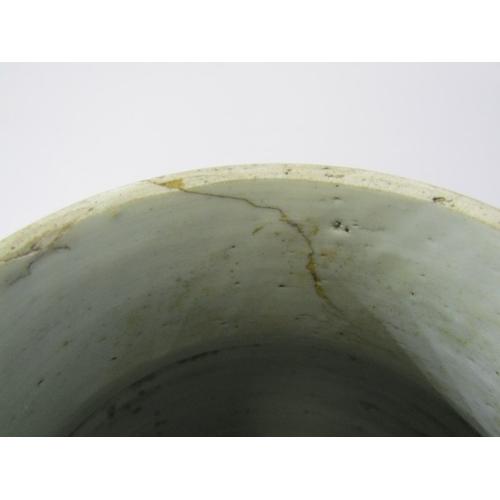 16 - ORIENTAL CERAMICS, Famille Verte cylindrical shouldered 13.5