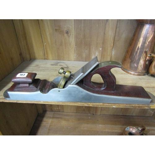 163 - CARPENTRY, A scratch built carpenters Jack plane, 22