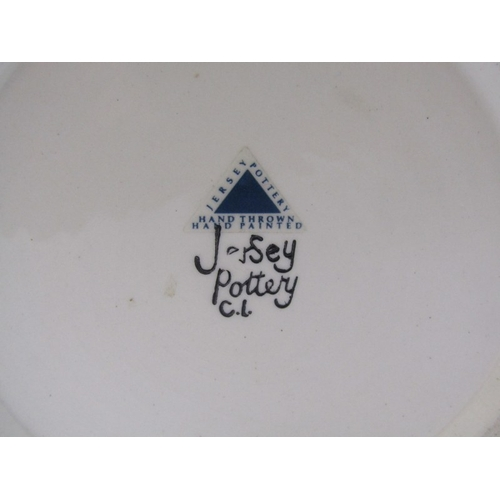 18 - JERSEY POTTERY, floral decorated 12