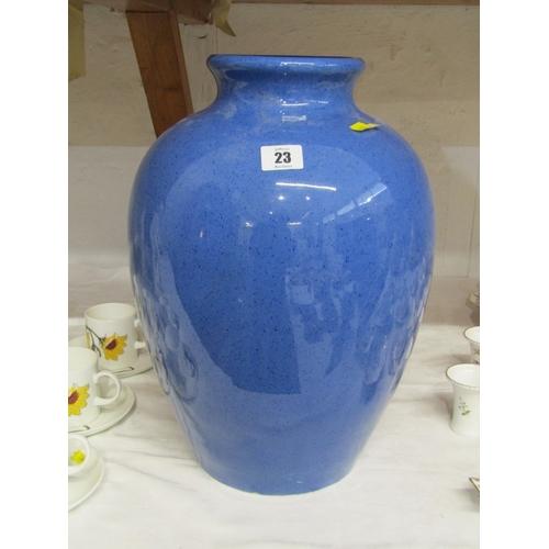 23 - MOORCROFT, powder blue ground large 16
