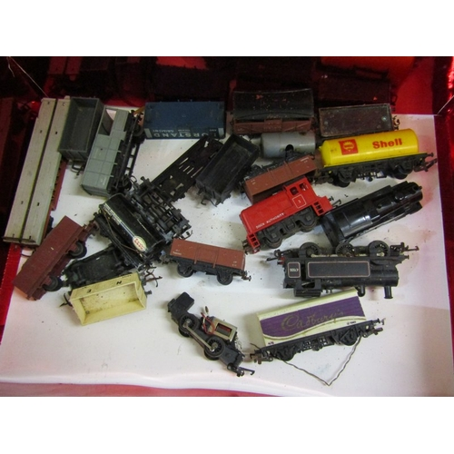 233 - MODEL RAILWAY, OO guage Dock Authority locomotive, 2 other and a collection of rolling stock (needs ...