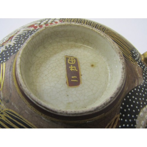 35 - ORIENTAL CERAMICS, Satsuma gilded tea service of 7 cups and saucers, together with matching Dragon h...