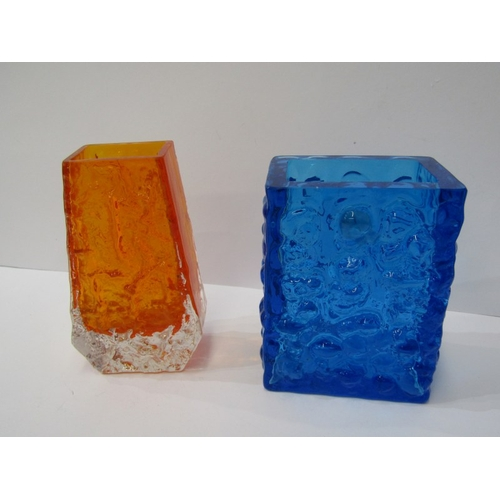 41 - WHITEFRIARS, tangerine glass vase, 5