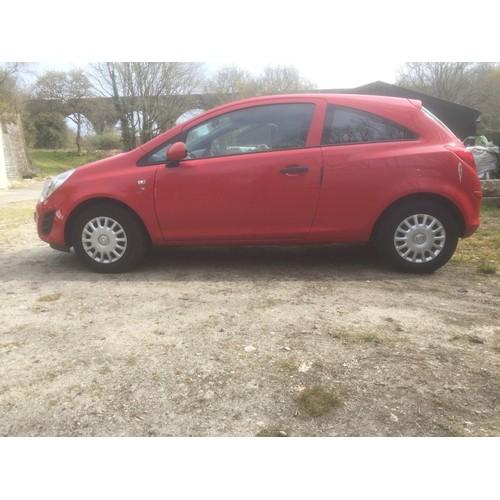 1 - COLLECTION ST AUSTELL; VAUXHALL CORSA S Ecoflex, 3 door hatchback, petrol, 1 litre, first registered...