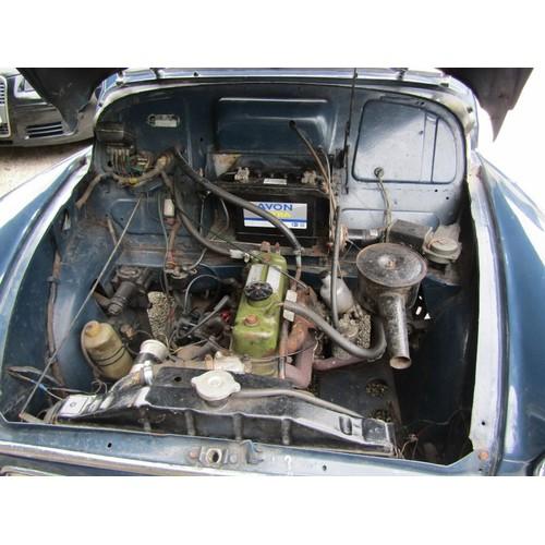 3 - COLLECTION ST AUSTELL; 1963 MORRIS MINOR SALOON, Trafalgar blue, Reg. no 846 PUR new voluntary MOT, ...