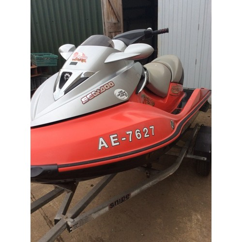 4 - COLLECTION PAR; Seadoo Jetski, 155 wake edition jetski with weightboard and rope, 88 hours from new,...
