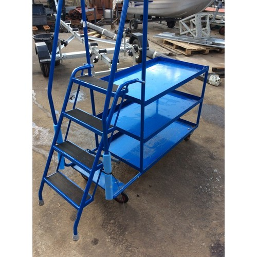 5 - COLLECTION PAR; plus VAT 3 tier workshop trolley steps