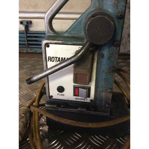 10 - COLLECTION PAR; plus VAT Rotamag magnetic drill and 10 various annular cutters (some require sharpen...