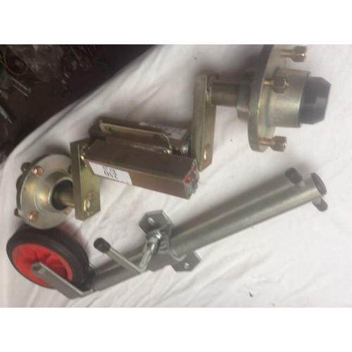 18 - COLLECTION PAR; plus VAT Brand new pair of 250kilo KG galvanised suspension units with taper bearing...