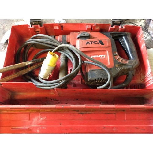 24 - COLLECTION PAR; plus VAT Hilti SGS Max rotary drill/Kango breaker with 2 chisels, 110 volts