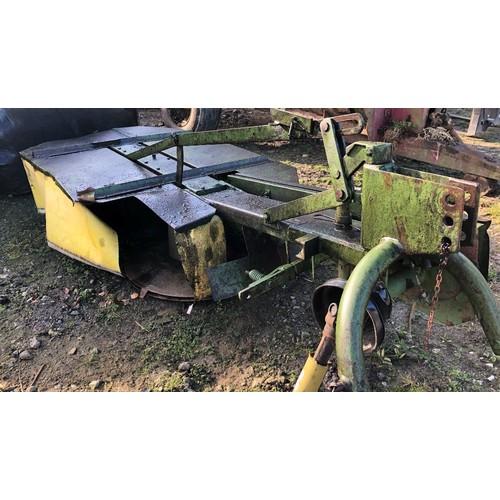 42 - COLLECTION LUXULYAN; PZ Grass mower, 6ft twin drum mower (1 blade missing)