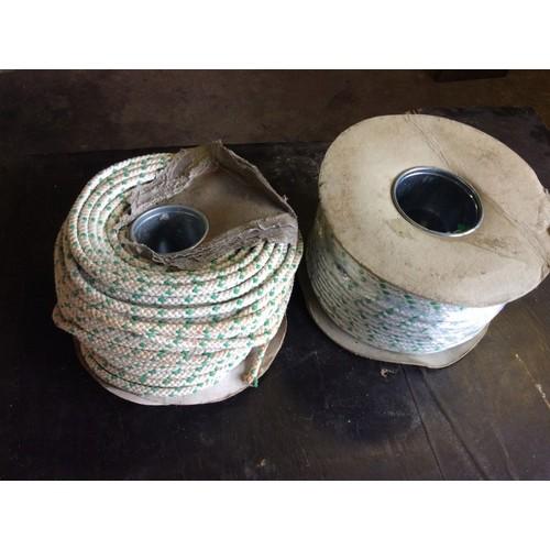 82 - COLLECTION PAR; plus VAT 200M rolls of 8mm rope (1 has damaged packaging)